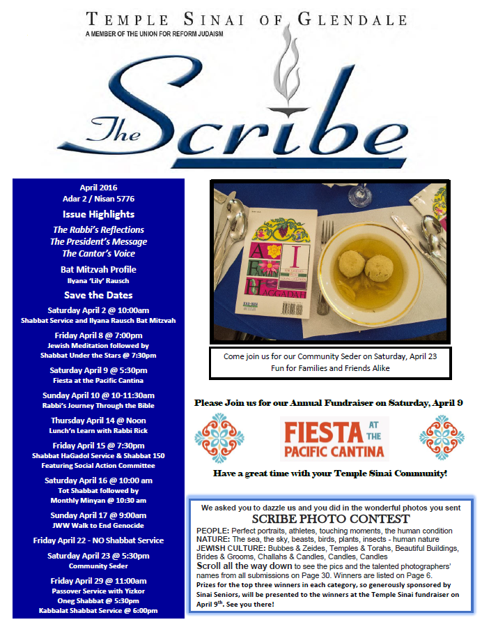 Scribe April 16 Cover