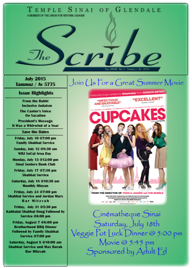 Scribe July 15 Cover