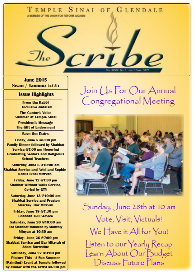 Scribe June 15 Cover