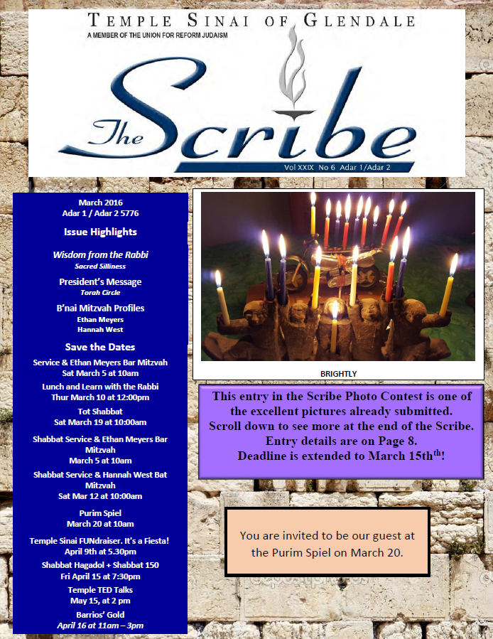 Scribe Mar 16 Cover