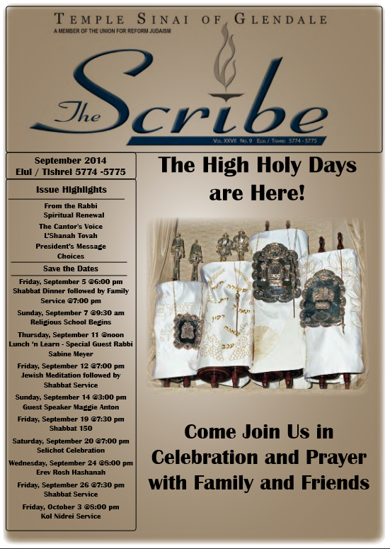 Scribe Sept 14 Cover
