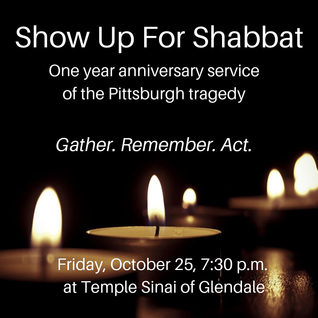 Show up for Shabbat